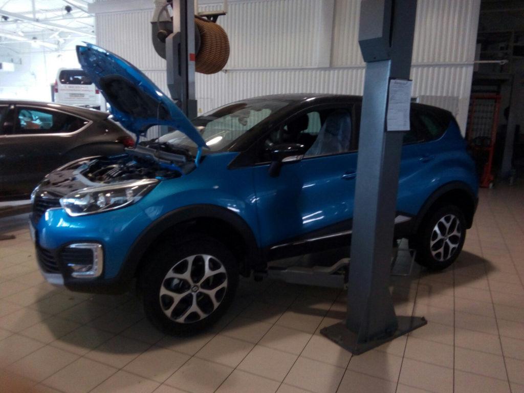 замена масла Renault Kaptur