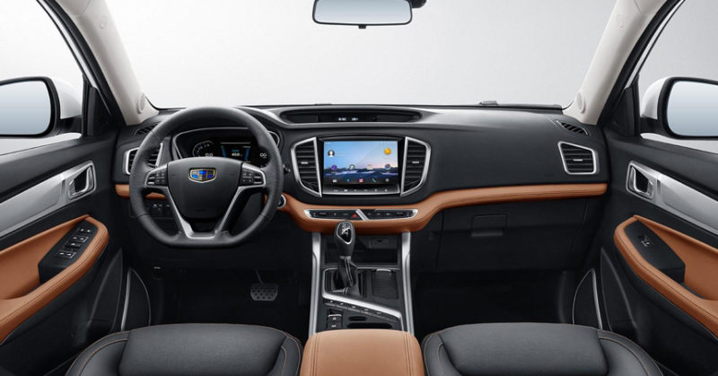 Geely Emgrand X7 2018 салон