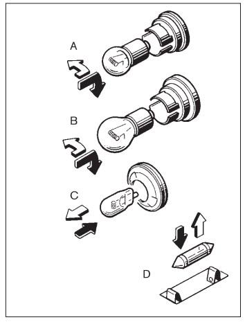замена ламп указателя поворотов
