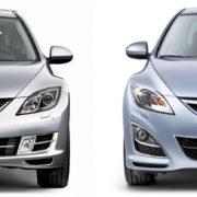 Как заменить лампу противотуманной фары Mazda 6 gh
