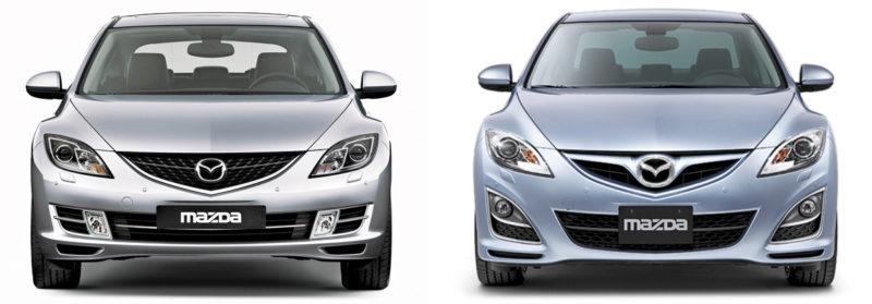 Mazda 6 GH замена ламп птф