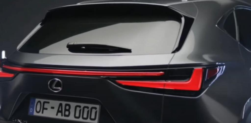 Lexus nx 2022 вид сзади